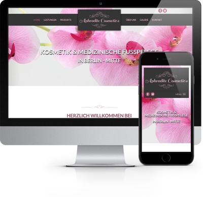 Webdesign Referenz - Aphrodite Cosmetic´s