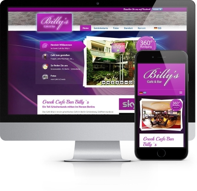 Webdesign Referenz - Café Bar Billy´s