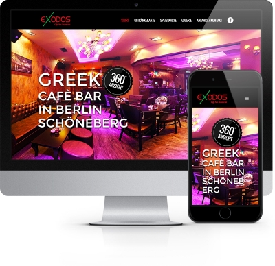 Webdesign Referenz - Exodos Café Bar