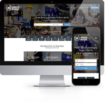 Webdesign Referenz - GreekBook Berlin