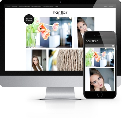Webdesign Referenz - Hair flair