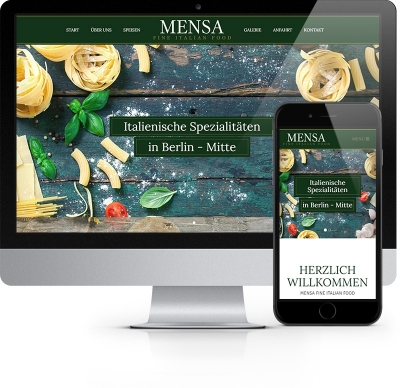 Webdesign Referenz - Mensa fine italian food
