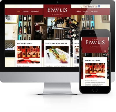 Webdesign Referenz - Restaurant Epavlis