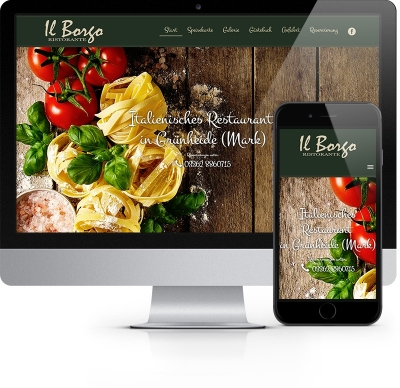 Webdesign Referenz - Restaurant Il Borgo