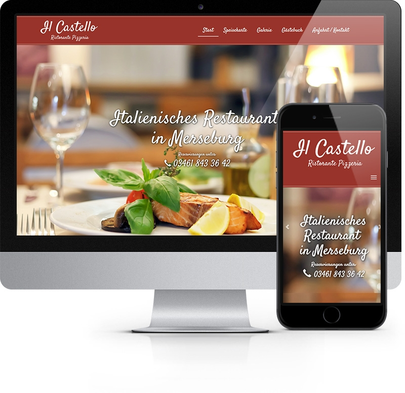 Webdesign Referenz Restaurant Il Castello