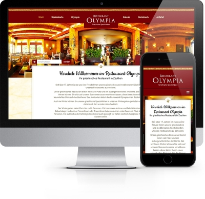 Webdesign Referenz - Restaurant Olympia