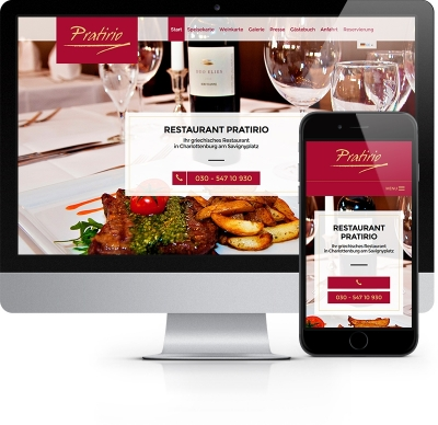 Webdesign Referenz - Restaurant Pratirio