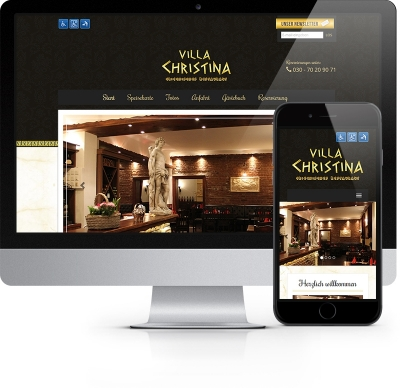 Webdesign Referenz - Restaurant Villa Christina