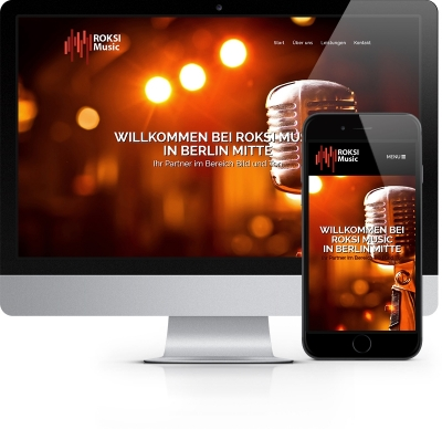 Webdesign Referenz - Roksi Music