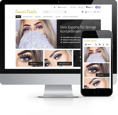 Webdesign Referenz - Secret Pearls