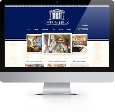 Webdesign Referenz - Taverna Hellas