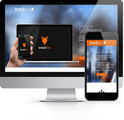 Webdesign Referenz - Trackfox