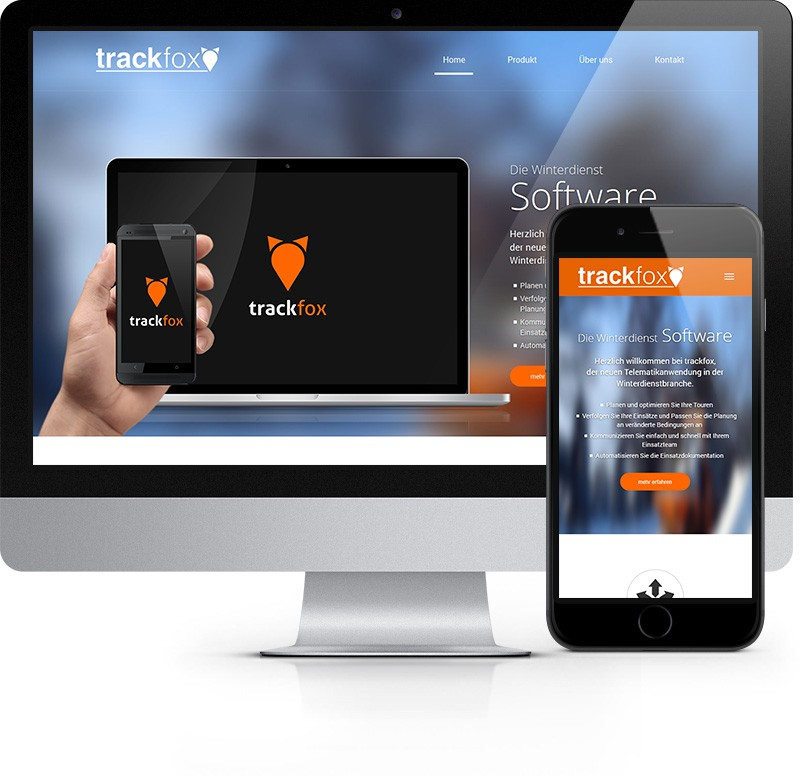 Webdesign Referenz Trackfox